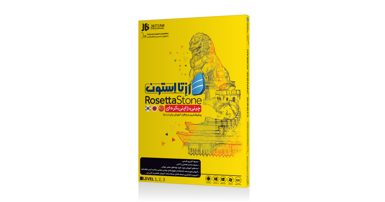 نرم افزار رزتا استون آموزش زبان چینی، ژاپنی، کره ای